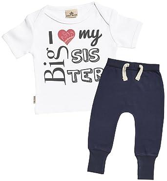 Amazon.com: SR – I Love My Big Sister atuendo de bebé – bebé ...
