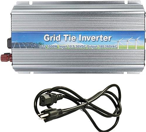 1000W Solar Inverter Grid Tie Pure Sine Wave DC 10.8-45V  Panel To AC110V  220V
