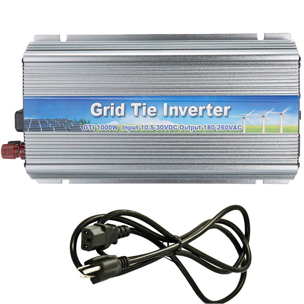 iMeshbean 1000W Grid Tie Power Inverter DC 10.8-30V /22V-50V to AC 110V / 220V MPPT Pure Sine Wave Inverter for Solar Panel System (DC 10.8V-30V-AC 220V)