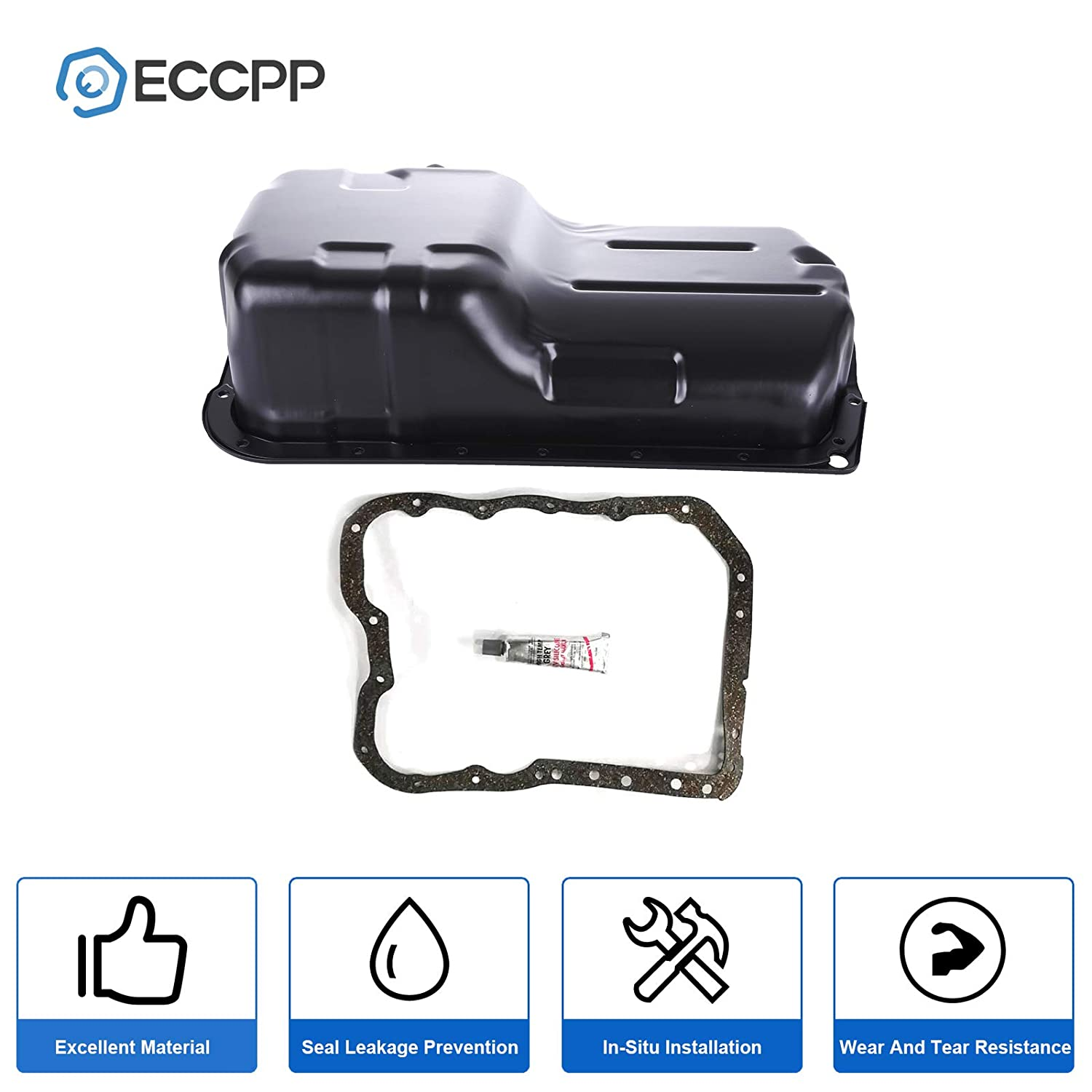 ECCPP Engine Oil Pan Drain Plug Kit Fit for 2012 Dodge Journey Oil Pan Gasket 1995-2005 Compatible with 264-361 Engine Oil Drain Pan