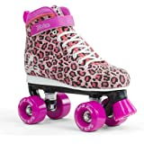 SFR Vision II Canvas Junior/Kids/Boys/Girls Quad/Roller Skates - Leopard