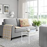 Pukami 54'' Small Loveseat Sofa Couch for Living Room, Small Modern Couch with Linen Fabric, Love Seats 2-seat Sofa…