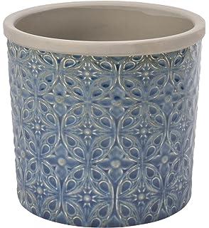 Burgon U0026 Ball Porto Indoor Glazed Ceramic Plant Pot Large In Dark Blue