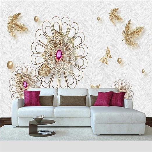 Papel Pintado Fotomural Diseño de diamante Mural de seda ...