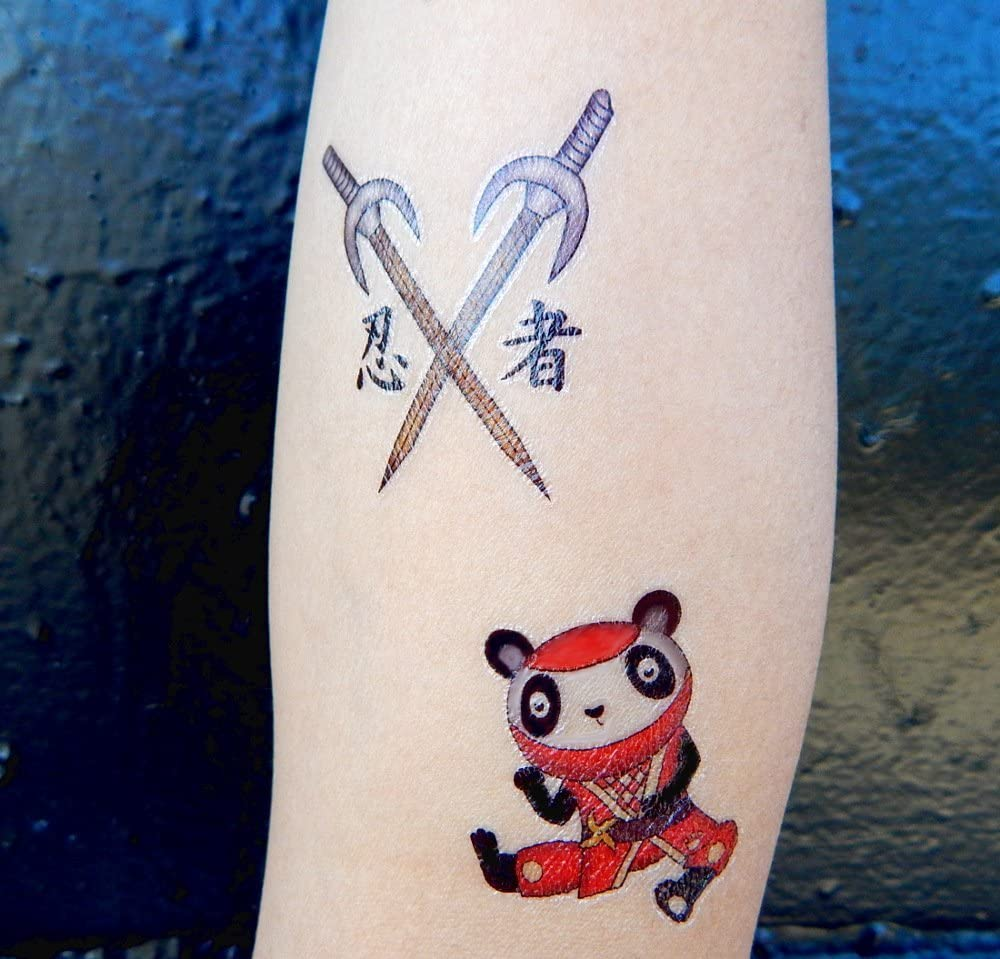 Amazon.com: PREMIUM Ninja Tatuajes, Karate Party Favors ...