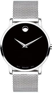 956ade7dc Amazon.com: Movado Museum Classic Black Dial Black Leather Men's ...