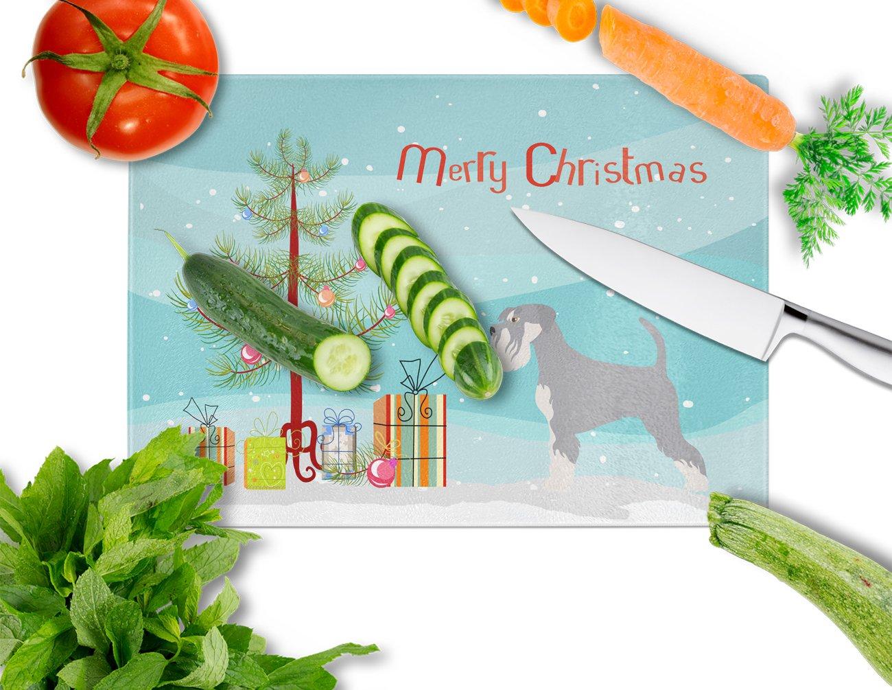 Carolines Treasures BB8512LCB Schnauzer Christmas Chopping Board Large Multicolor