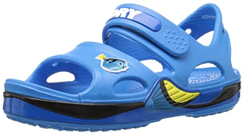 Crocs Kids Crocband II Finding Dory Sandal, Ocean, 4 M US Toddler