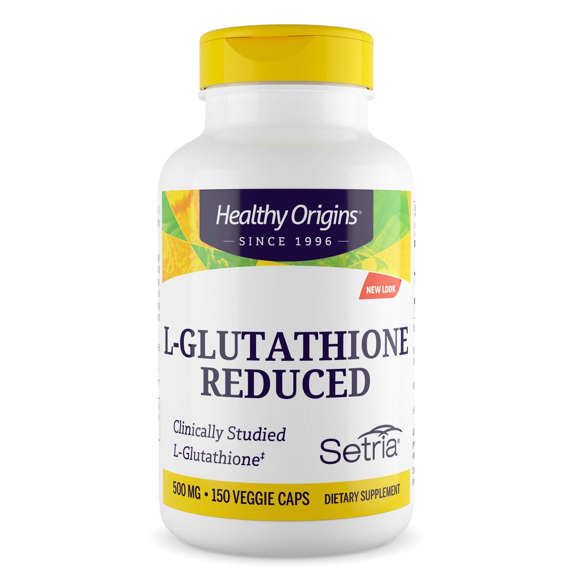 Healthy Origins L-Glutathione (Setria) 500 mg, 150 Veggie Caps