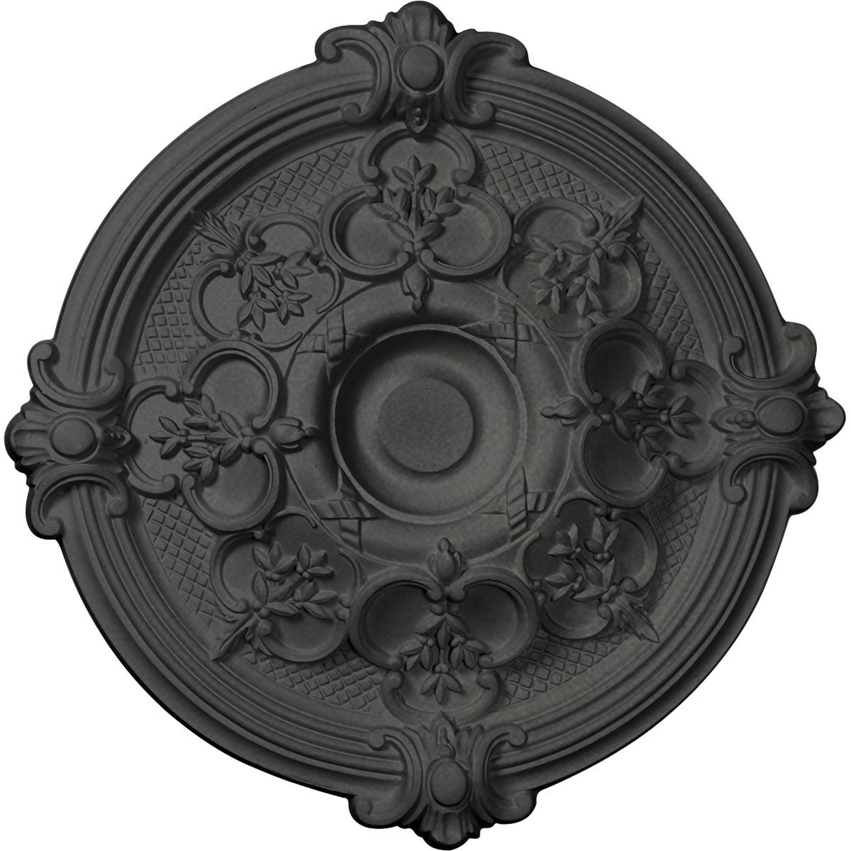 Ekena Millwork CM17HASGS Hamilton Ceiling Medallion, 17 3/8'' OD x 1 3/4'' P, Steel Gray