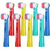 Milos Compatible Oral B Kids Replacement Brush Heads / 8 Pack of Kids Electric Toothbrush Heads/Compatible Kids Oral B…