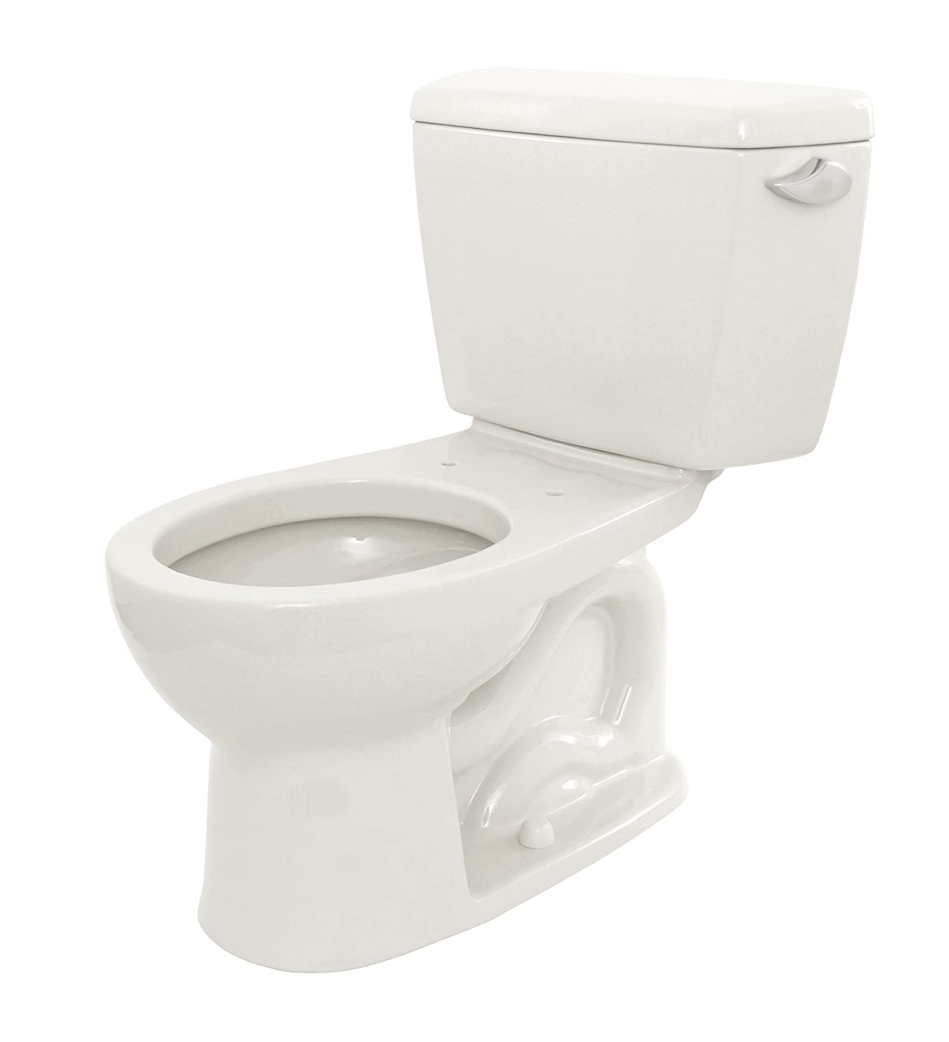 TOTO CST743SR#01 Drake 2 Piece Toilet With Round Bowl And Right Hand Trip  Lever, Cotton White   Two Piece Toilets   Amazon.com