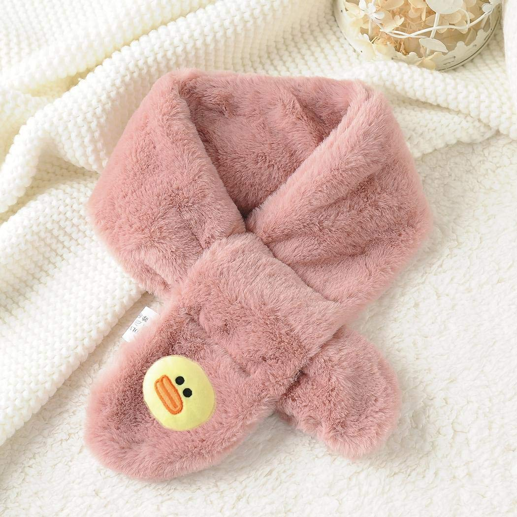 Zouvo Children Child Baby Winter Warm Faux Rabbit Fur Cartoon Scarf Scarves /& Wraps