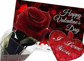 Rosen Te Amo Als Liebes Geschenk Set Eine Echte Haltbare Rose In