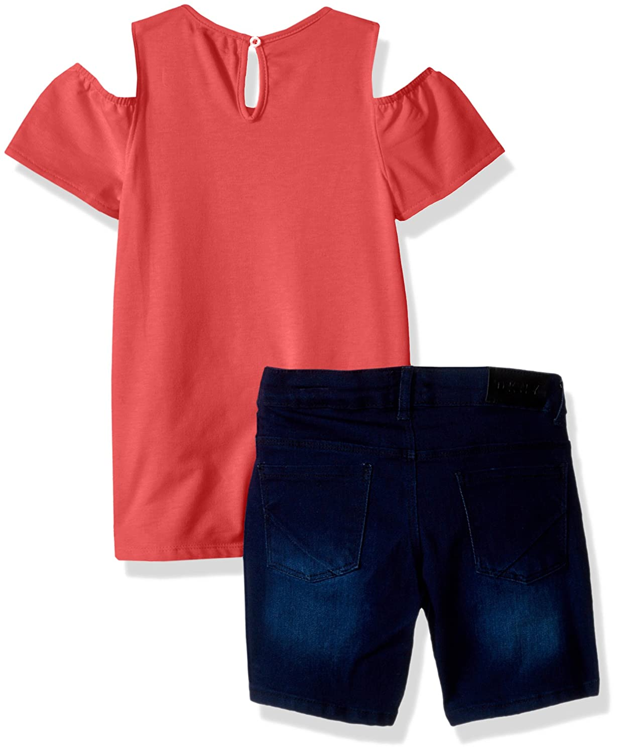 DKNY Girls Fashion Top and Short Set
