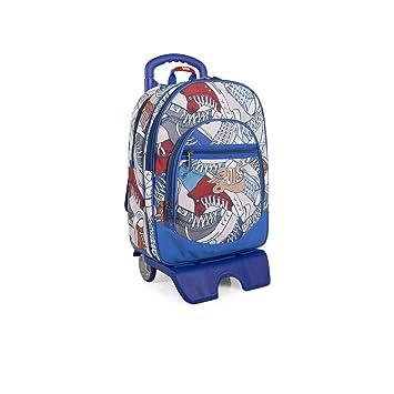 Lois - Mochila Escolar con Ruedas Infantil para Niño. Carro Trolley Extensible. Asa de
