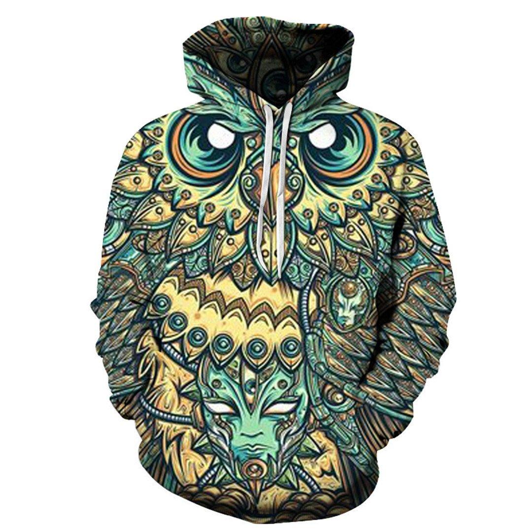 AGUNINOLE 3D Hoodies Men Sweatshirts 6XL Quality Pullovers Hooded Jakcets