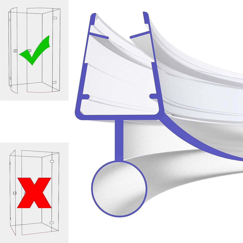 Ersatzdichtung 50cm 500mm fü r 5mm, 6mm, 7mm und 8mm 8800 Glasstä rke Gebogene Duschdichtung Wasserabweiser Ersatzdichtung Duschprofil Duschtü rdichtung IQ-Handel