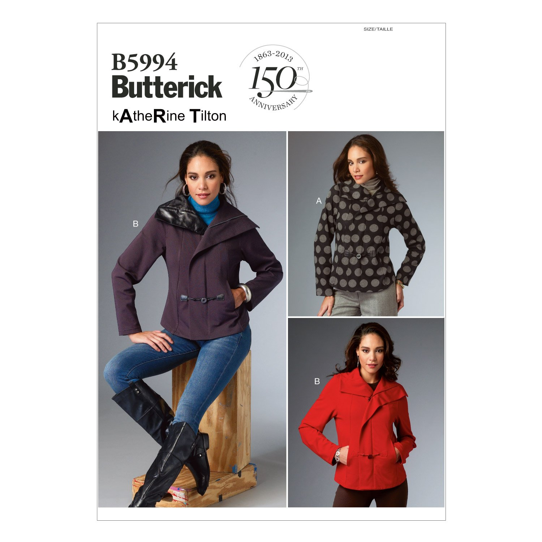 Butterick Patterns B5994 Misses' Jacket Sewing Template, Size B5 by BUTTERICK PATTERNS   B00H49HHBU