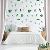 Tropical Stickers,Palm Leaf Wall Decals 126 Pcs Outgeek Tropical Plants Tree Leaves Removable Waterproof for Kids…