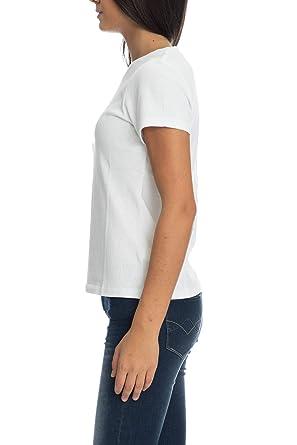 quality design 8334c b8ccc Calvin Klein Maglia - T Shirt Manica Corta Donna Bianca ...