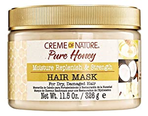 Creme Of Nature Pure Honey Hair Mask 11.5 Ounce Jar (340ml) (2 Pack)