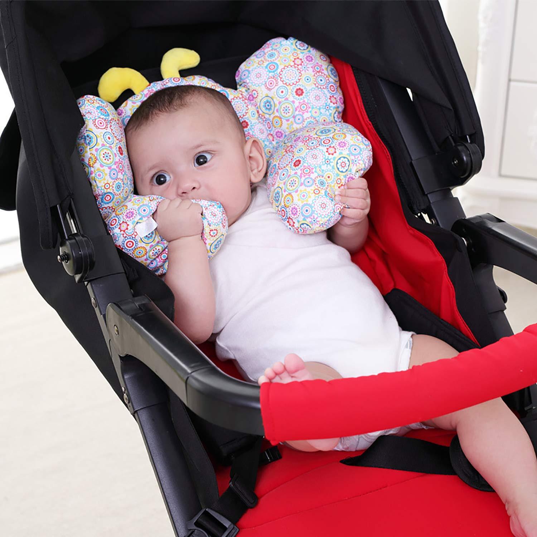 MengH-SHOP Baby PillowsoftHead Neck Support PillowInfant Car Seat Travel Neck Cushionfor Pushchair Function-Stroller Pram