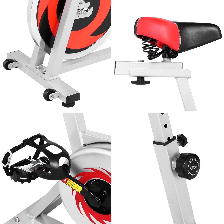 L x B x H Wesoky Heimtrainer Fahrrad Fitnessbike Indoor mit Trainingscomputer 40 LB verchromtes Schwungrad geeignet f/ür EIN maximales K/örpergewicht von 275 Pfund 42,9 x 18,9 x 43,3 Zoll