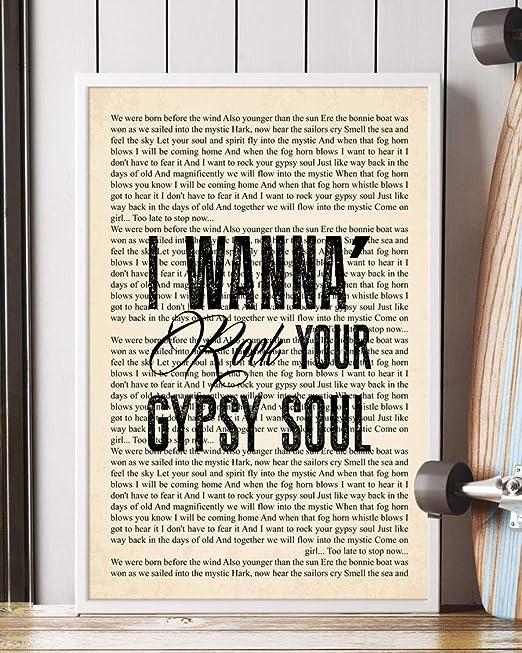 Van Morrison Into the MysticPoster SONG LYRICS ART PRINTCANVAS GIFT