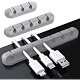 Cable Clips, 3 Pack Cord Management Cable Organizer, TERSELY Silicone Adhesive Wire Holder for Power Cords, Charging…