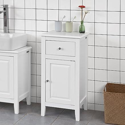 sobuy® mobile basso a colonna per il bagno, mobiletto base singola ... - Mobili Bassi Per Bagno