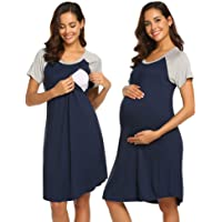 Ekouaer 3 in 1 Delivery/Labor/Nursing Nightgown Women's Maternity Hospital Gown/...