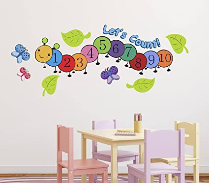 Luke and lilly numbers123 design vinyl wall sticker 115