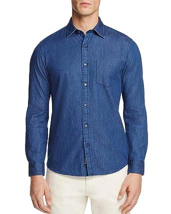 56cfae561b7 Image Unavailable. Image not available for. Color  Michael Kors Slim Fit  Denim Button Down Shirt X-Large Indigo