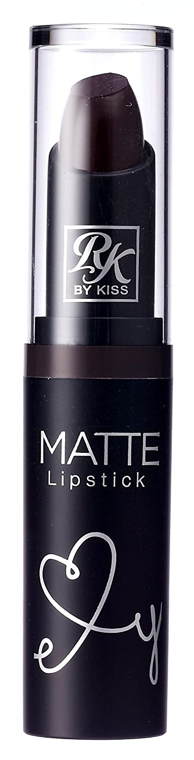 Kiss Ruby Kisses Matte Lipstick Dark Plum Scene (3ml) (2 Pack)