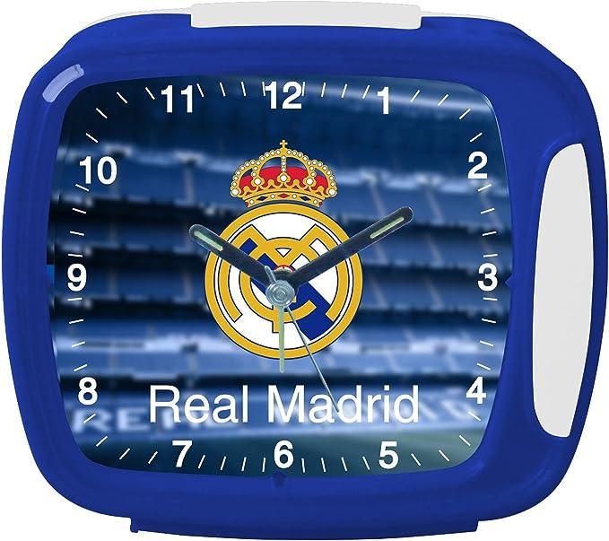 Real Madrid C.F.. - Reloj Despertador con Himno 13x11: Amazon.es: Juguetes y juegos