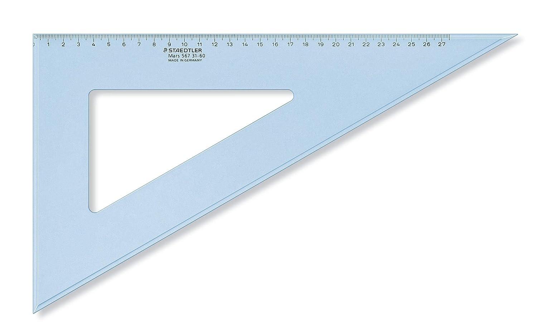 Equerre Plastique Bleu Transparent 31 Cm 60/°//30/° Scolaire Mars 567