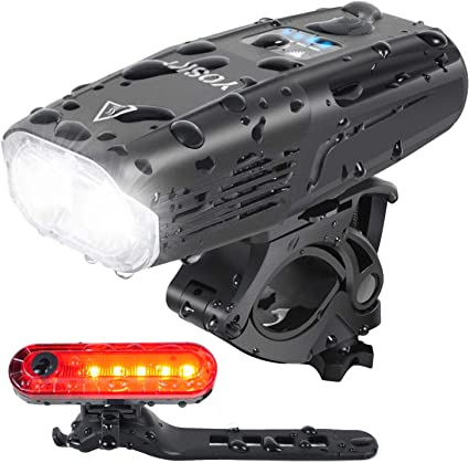 Bike Bicycle Cycling Head Front Rear Lights MTB Lamp USB Rechargeable Smart