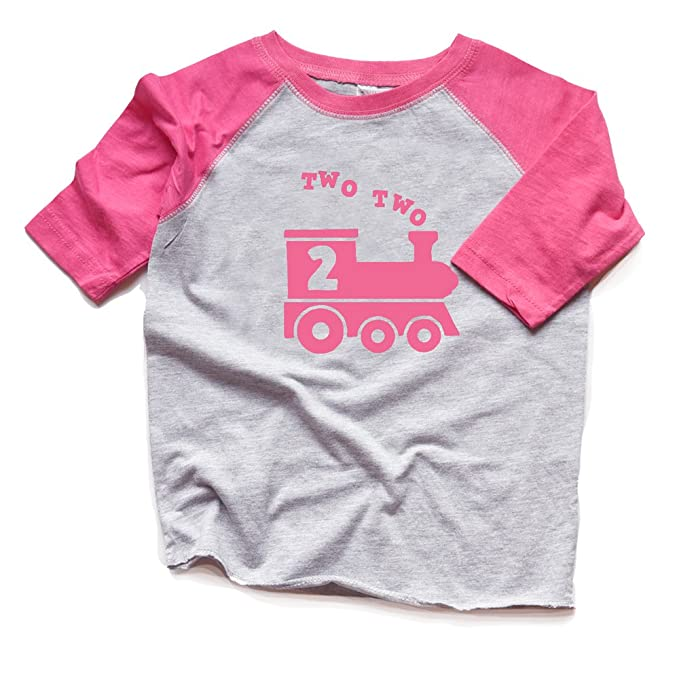 Amazon.com: Dos tren 2 nd cumpleaños Camisa Niña Segunda ...