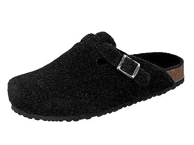 Supersoft Herren Schuhe Hausschuhe Klassische Filz Pantoffeln 511 064 in Schwarz