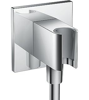 Hansgrohe 26486000 PorterSquare fixfit toma de agua, con soporte de ducha, cromo