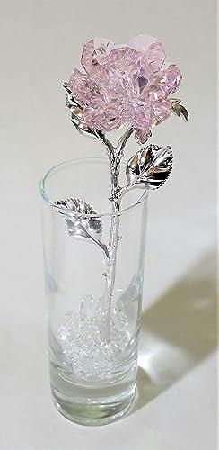 SWAROVSKI Pink Crystal Rose Made Crystal