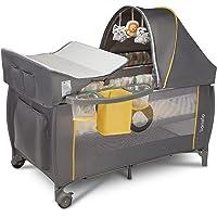 LIONELO Sven Plus 2 w 1, łóżeczko turystyczne i kojec, przewijak, moskitiera, funkcja bujania, baldachim z moskitierą…
