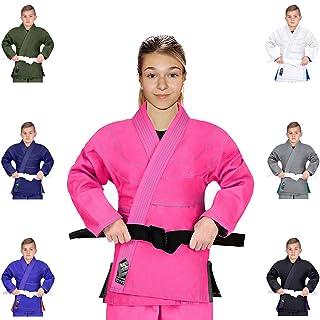 Shihan Power Sports 5 DAN BAR Karate Black Belt Satin RED Embroidery 5 DAN BAR 320cm Length Kenpo Kickboxing