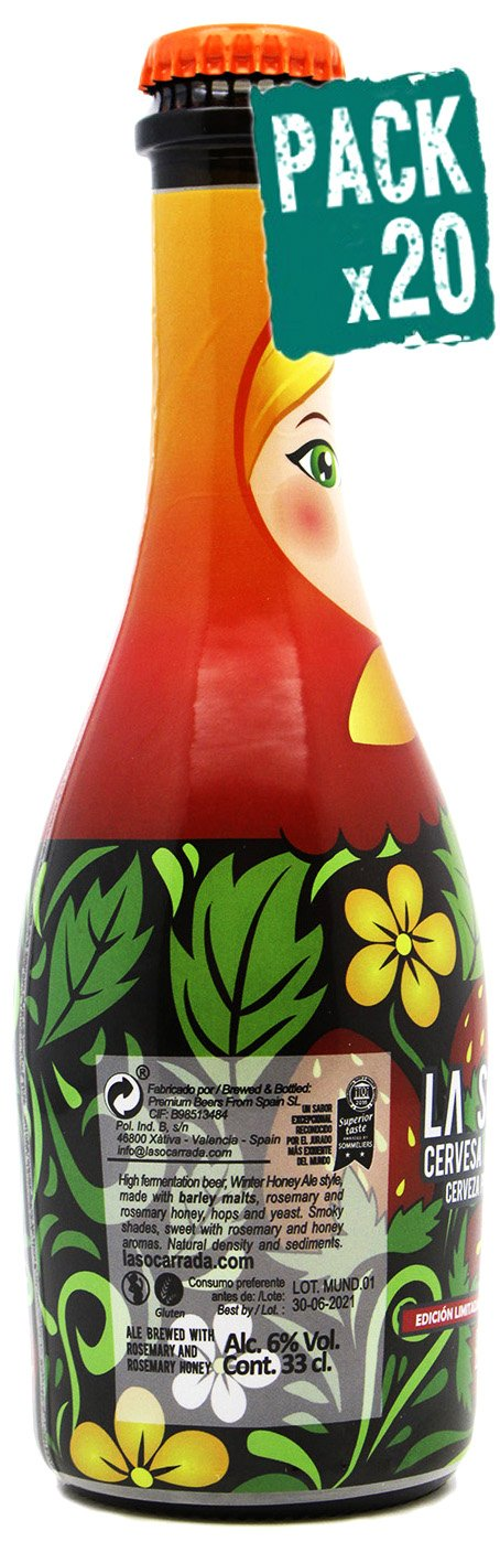 Cerveza artesanal premium La Socarrada MUNDIAL RUSIA 2018 Edición Limitada, botella de 33 cl, triple malta, doble fermentación, elaborada con romero y ...
