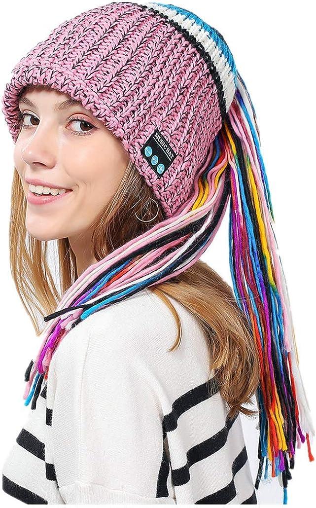 iNoDoZ Womens Winter Hat Wireless Bluetooth 4.2 Smart Cap Headphone Headset Speaker Mic