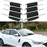 Black 2 Pcs Universal 3D Shark Car Gill Simulation Exhaust Port Air Scoop Outlet Flow Intake Hood Vent Bonnet Decorative Car Styling Modification Sticker