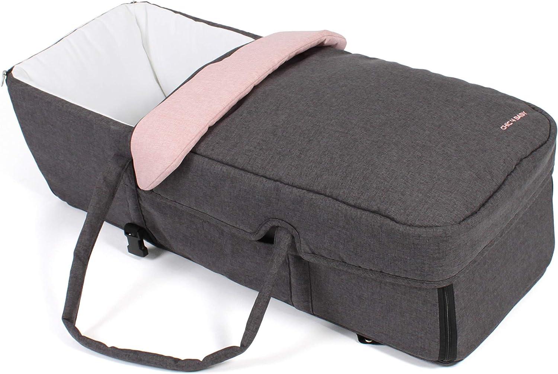 CHIC 4 Baby 274 67 Poussette double avec sac de transport Rose m/élang/é Gris