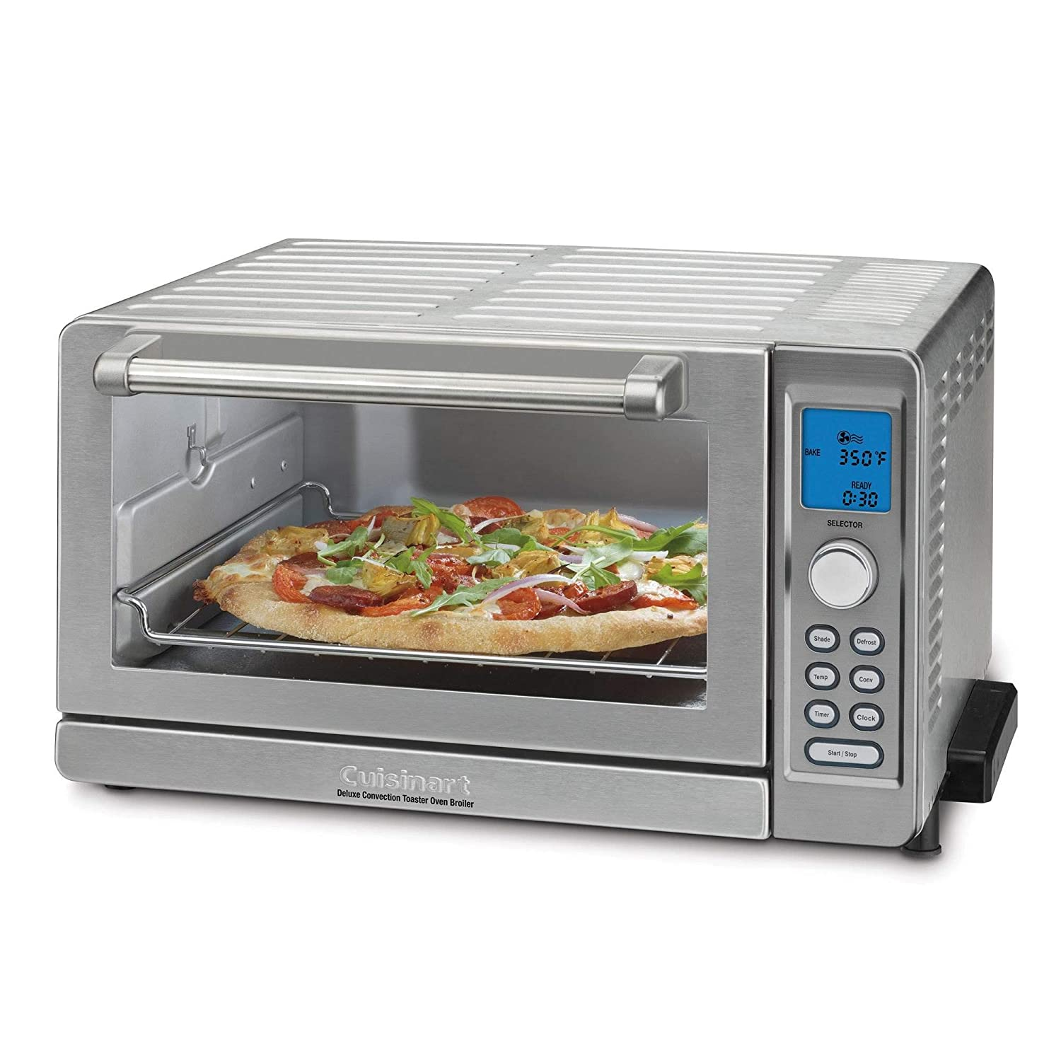 Cuisinart TOB-135 Deluxe Convection Toaster Oven Broiler, Brushed Stainless Renewed