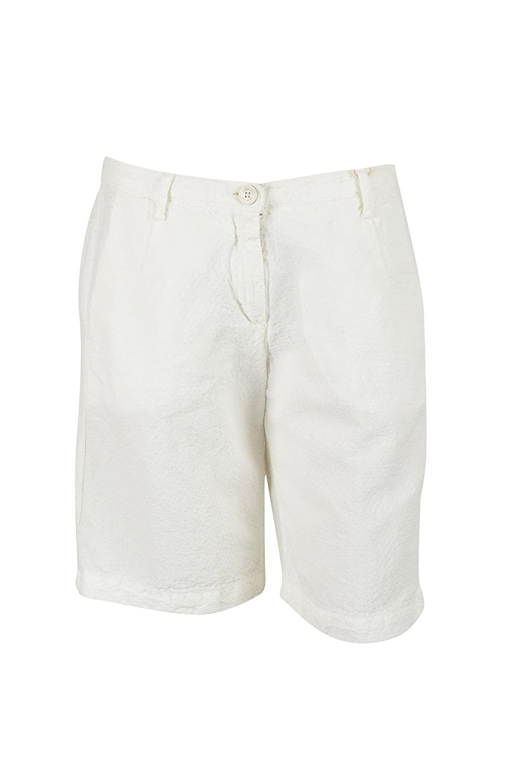 Massimo Alba Womens Off-White Miro Textured 4-Pocket Shorts 38